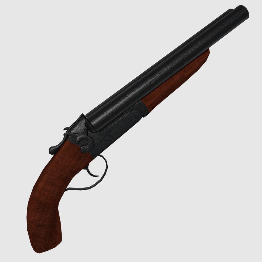 Sawed Off Shotgun royalty-free 3d model - Preview no. 3