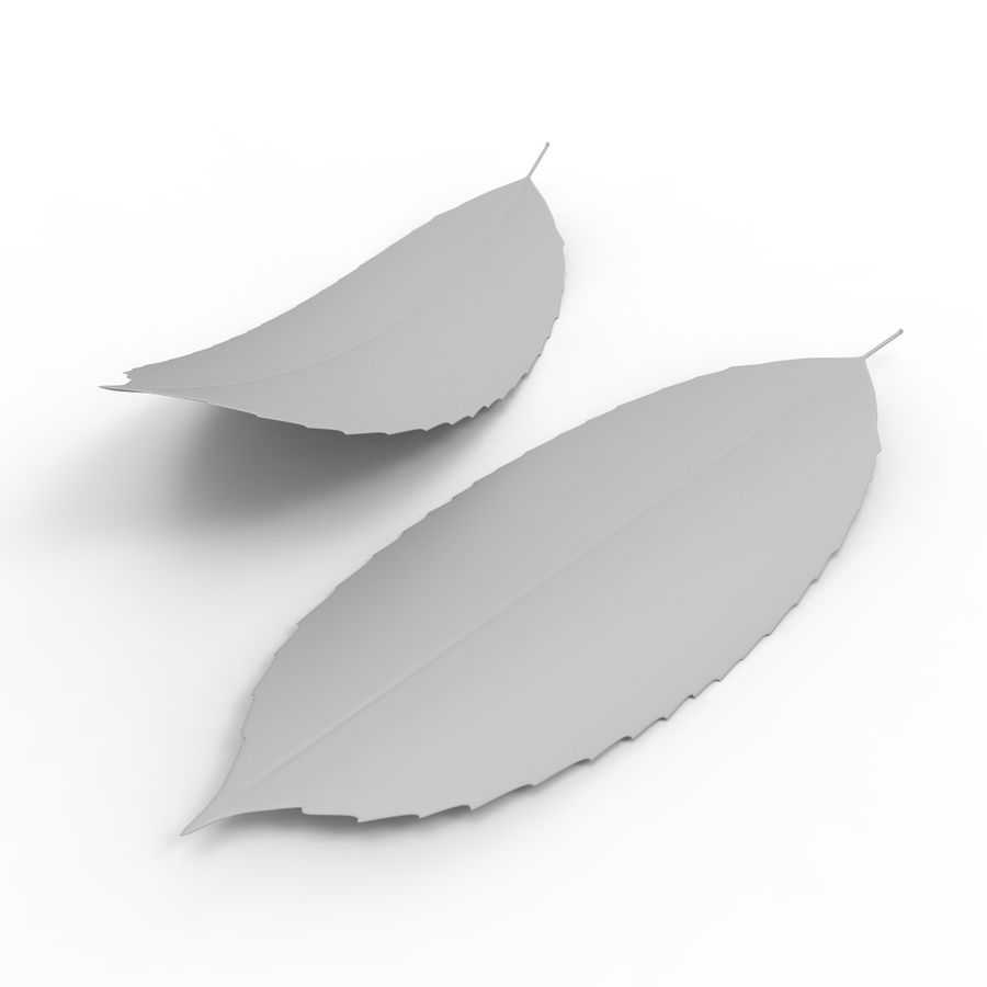Baum Blatt royalty-free 3d model - Preview no. 9