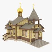Igreja de madeira russa 3d model
