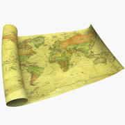 Plan du monde 3d model