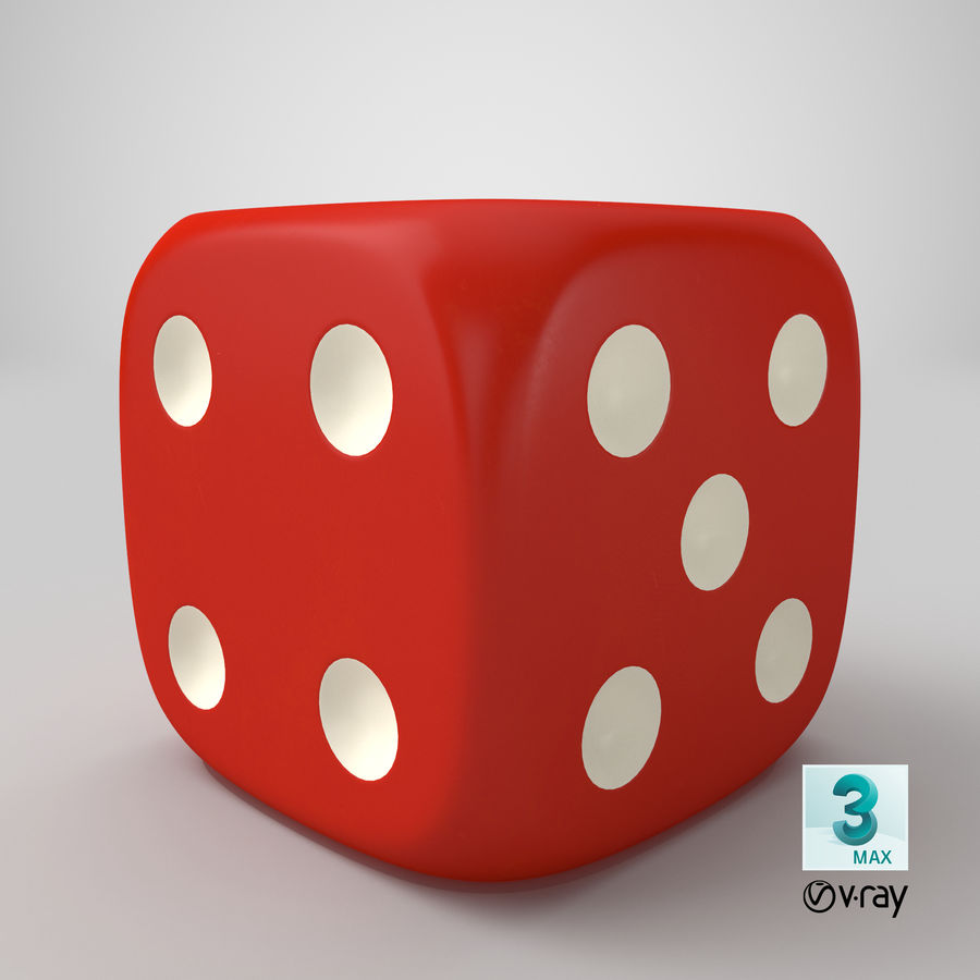 6ダイス royalty-free 3d model - Preview no. 13