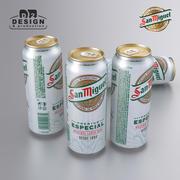 Beer can San Miguel 500ml 3d model