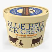 Ice Cream Gallon Tub Vanilla 3D Model 3d model