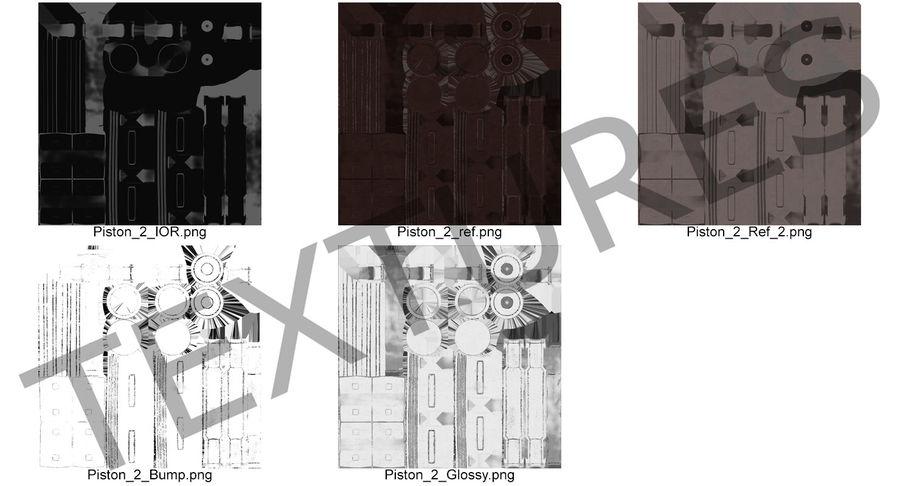 3D модель Sci-Fi гидравлического цилиндра с анодированным поршнем royalty-free 3d model - Preview no. 12