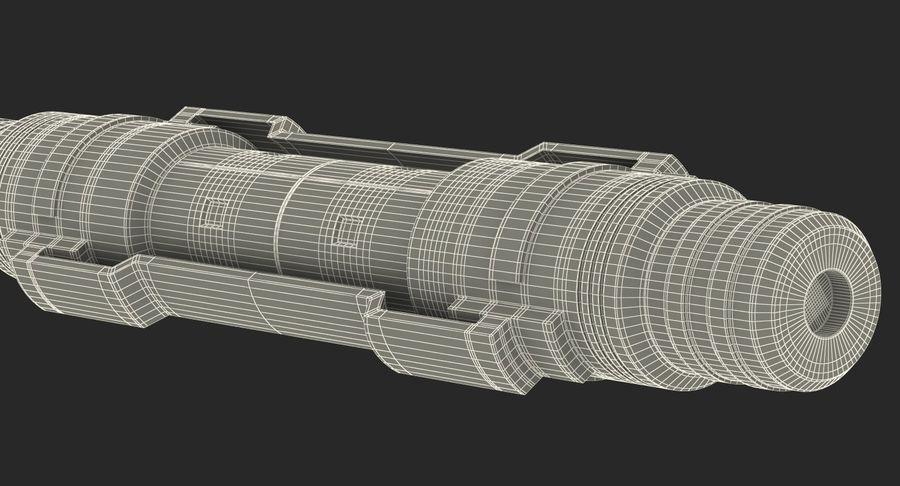 3D модель Sci-Fi гидравлического цилиндра с анодированным поршнем royalty-free 3d model - Preview no. 15