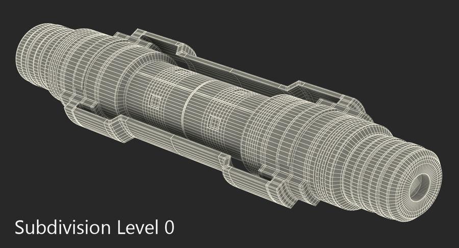 3D модель Sci-Fi гидравлического цилиндра с анодированным поршнем royalty-free 3d model - Preview no. 9