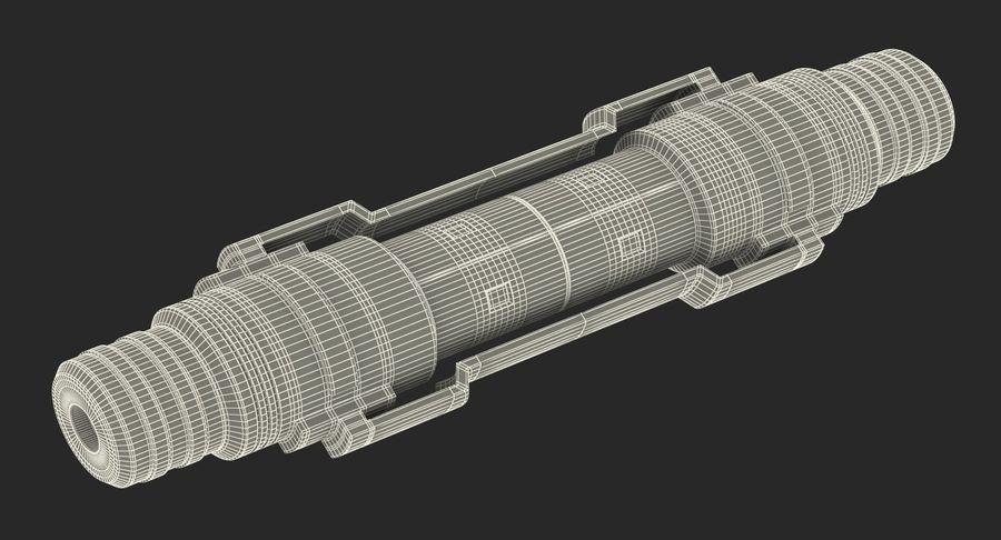 3D модель Sci-Fi гидравлического цилиндра с анодированным поршнем royalty-free 3d model - Preview no. 16
