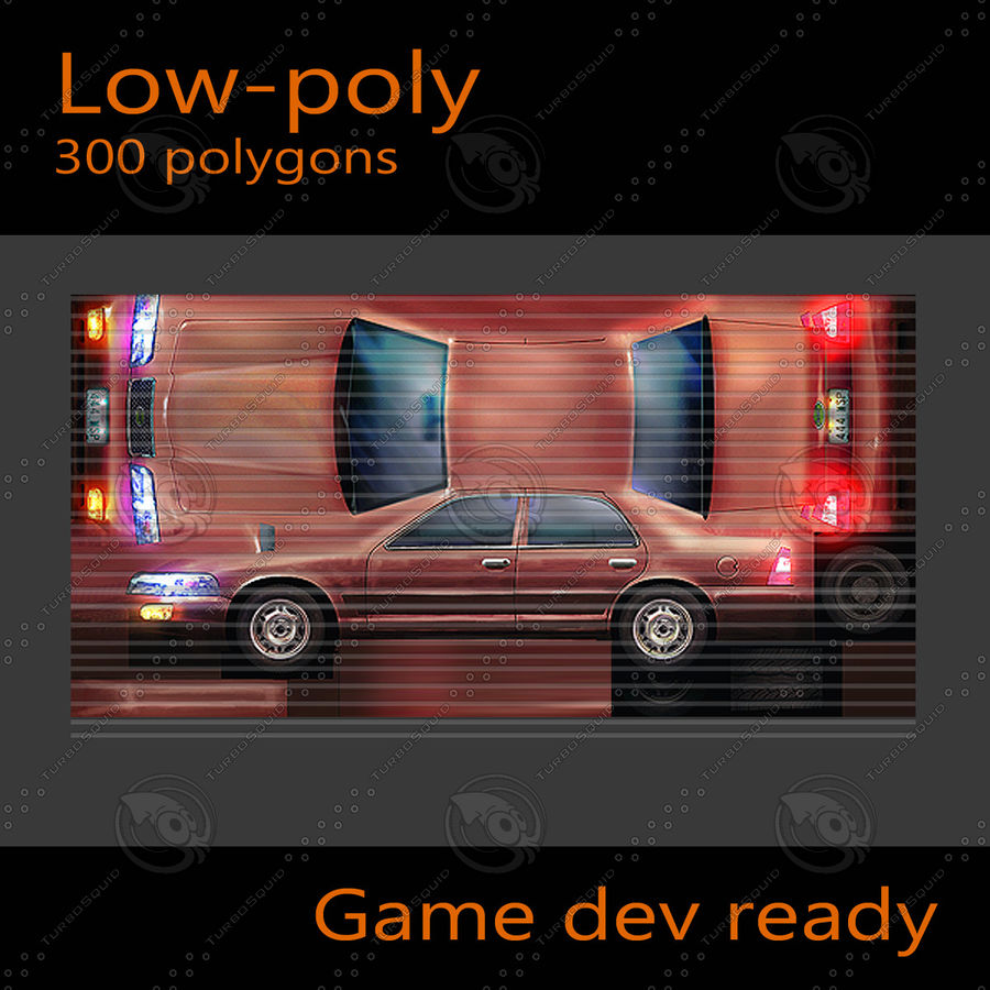 Car Sedan royalty-free 3d model - Preview no. 6