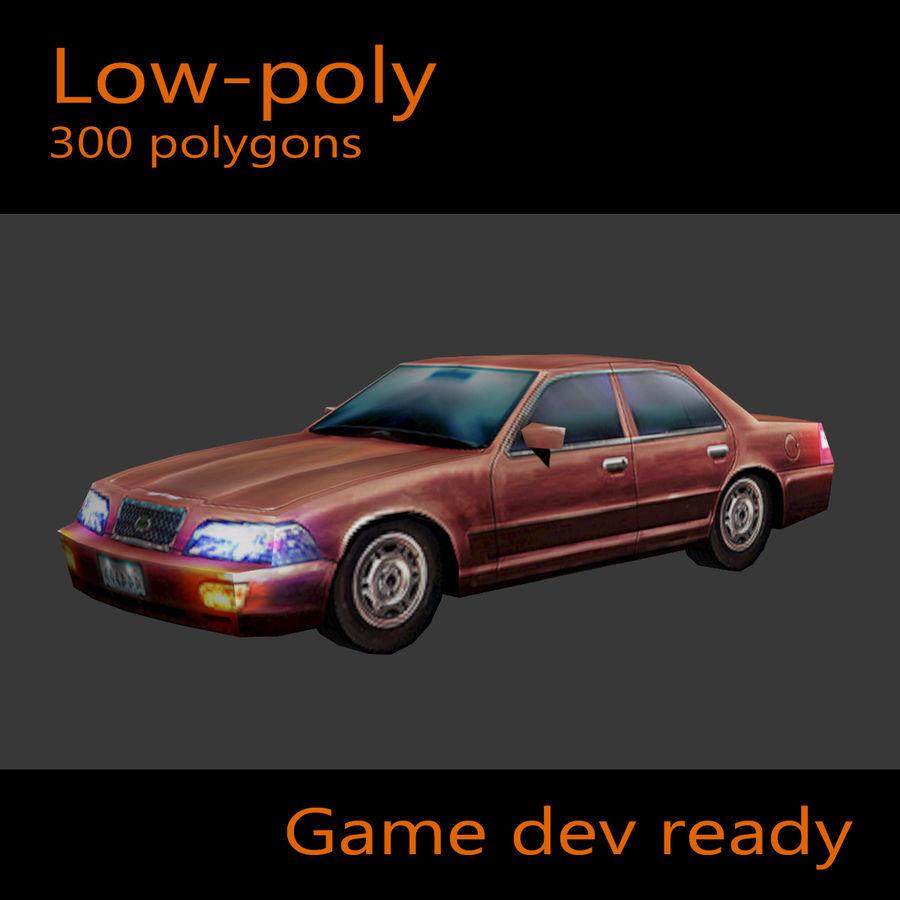 Car Sedan royalty-free 3d model - Preview no. 1