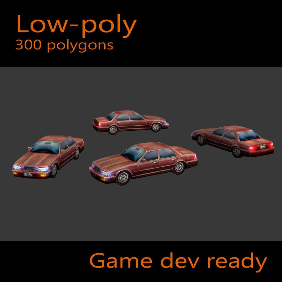 Car Sedan royalty-free 3d model - Preview no. 4
