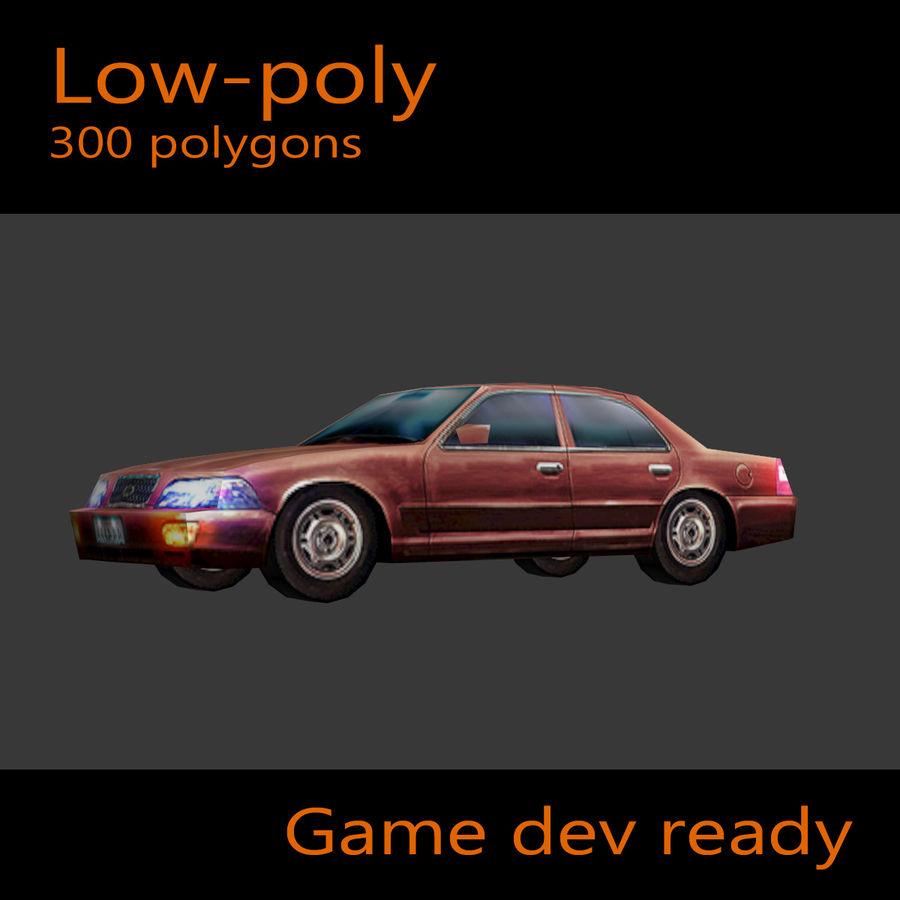 Car Sedan royalty-free 3d model - Preview no. 5