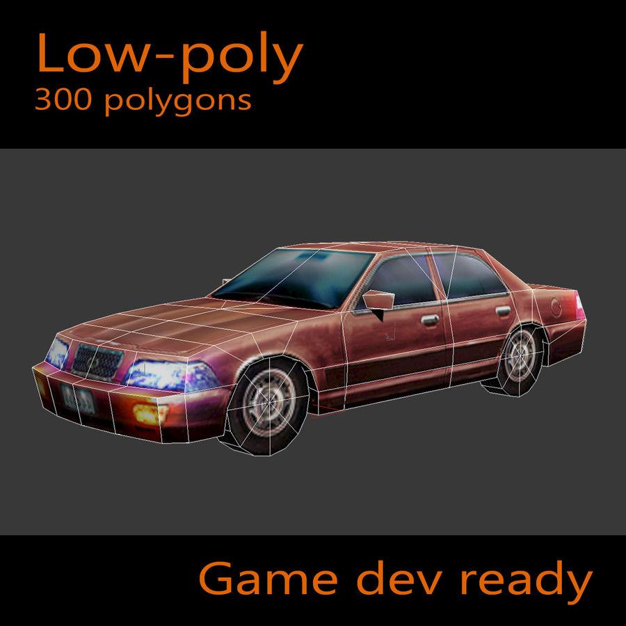 Car Sedan royalty-free 3d model - Preview no. 2