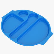Lunch Food Tray 04 Blue 3d model