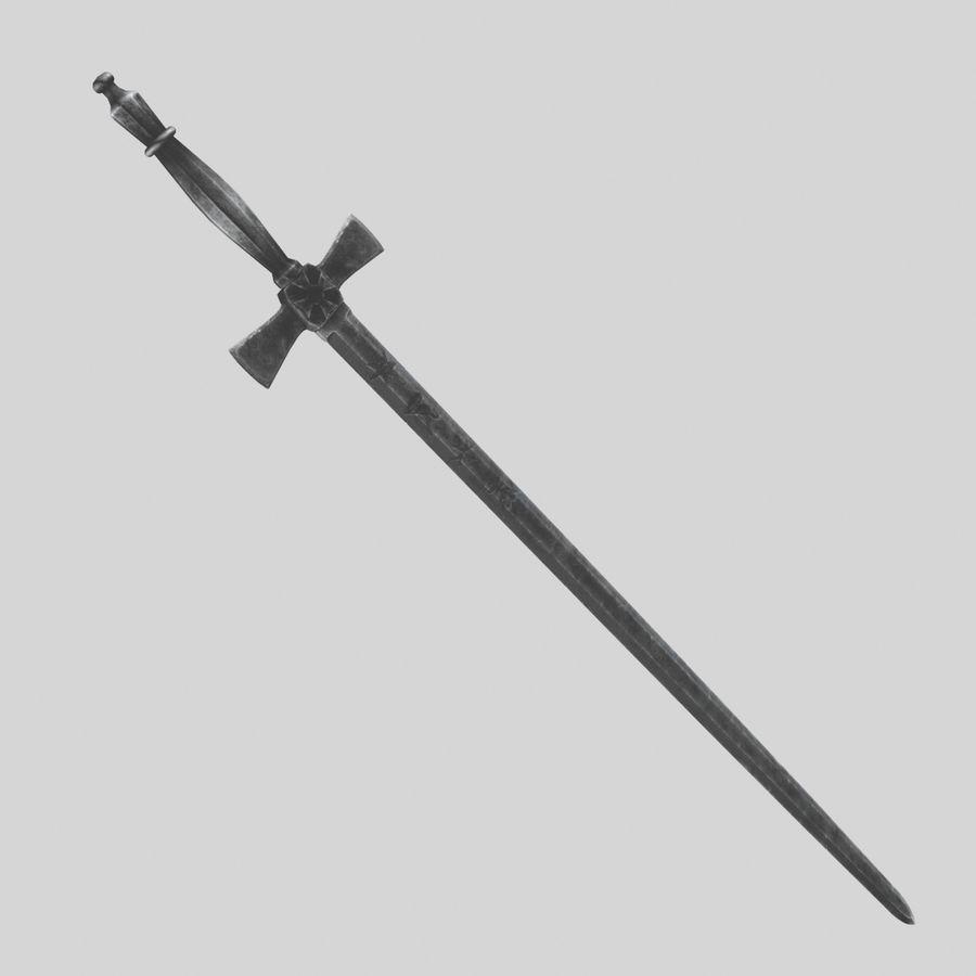 Mason sword royalty-free 3d model - Preview no. 2