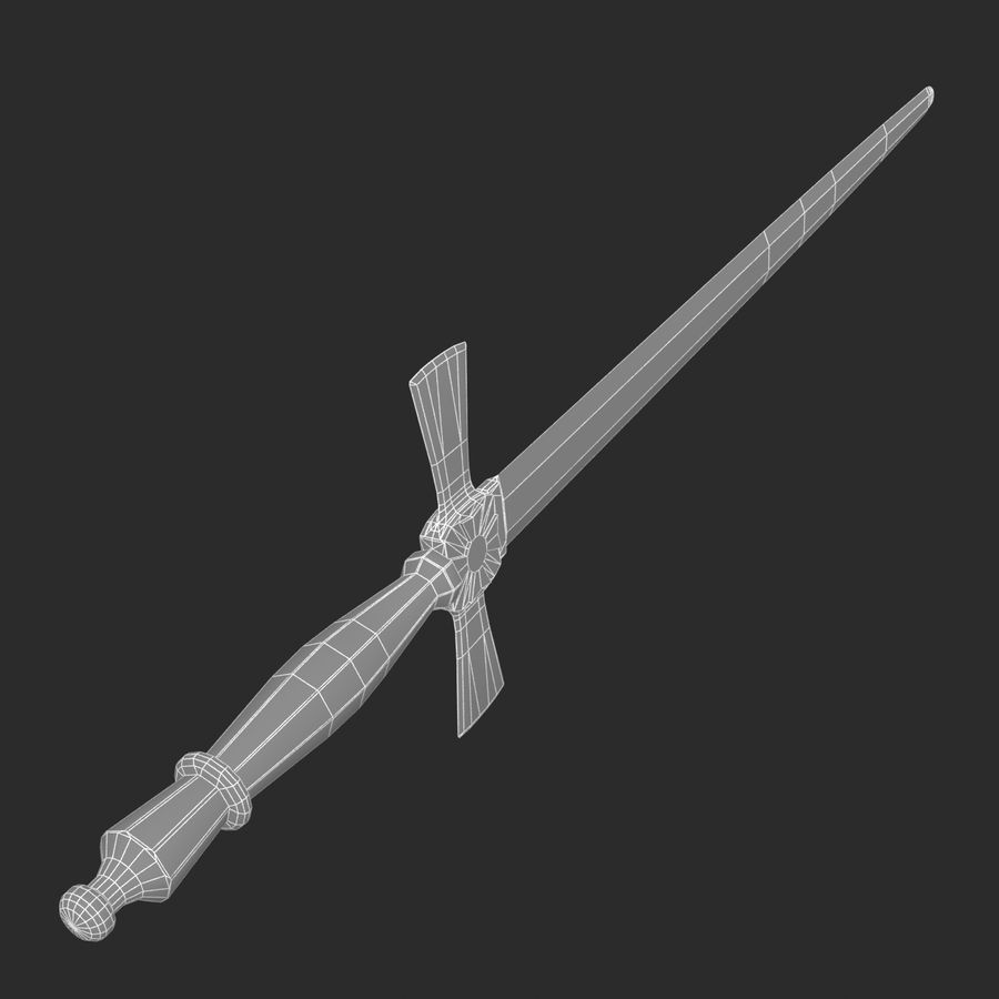 Mason sword royalty-free 3d model - Preview no. 10