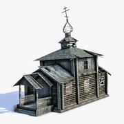 러시아 마을 교회 03 LOD 3d model