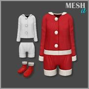 Weihnachten Set männlich und weiblich 3d model