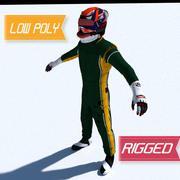 雷诺一级方程式赛车手 3d model