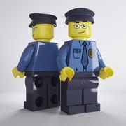 Lego Poliziotto 3d model