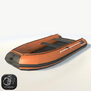 """Inflatable """"solar 380"""" boat low poly 3d model"""