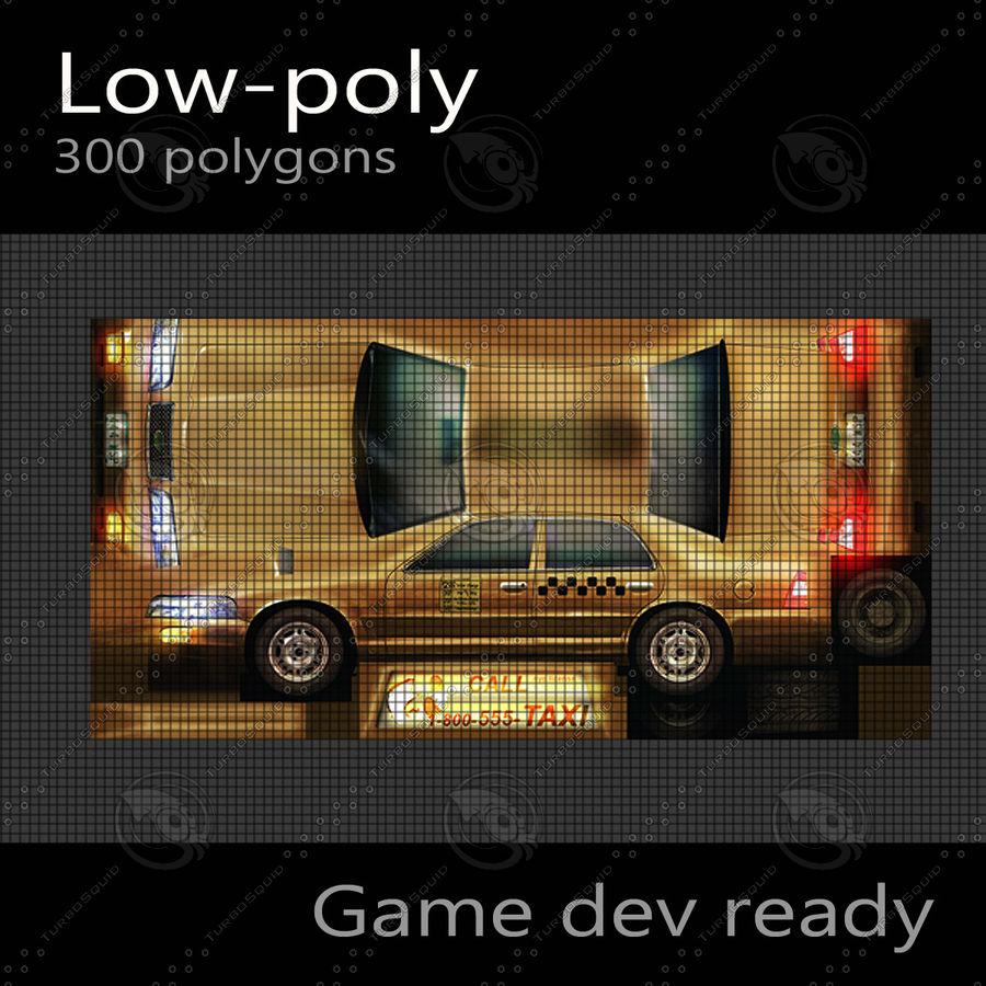 車のタクシー royalty-free 3d model - Preview no. 7
