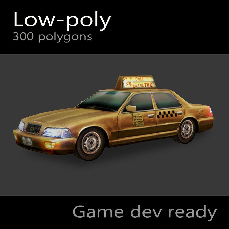 車のタクシー royalty-free 3d model - Preview no. 1