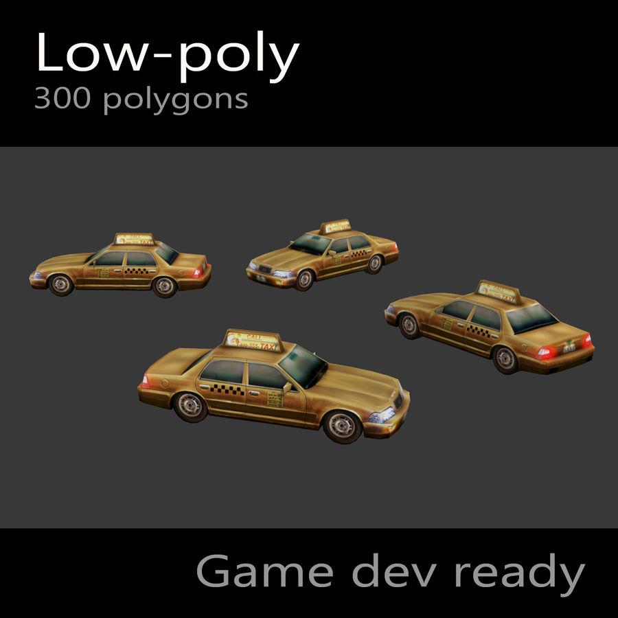 車のタクシー royalty-free 3d model - Preview no. 6