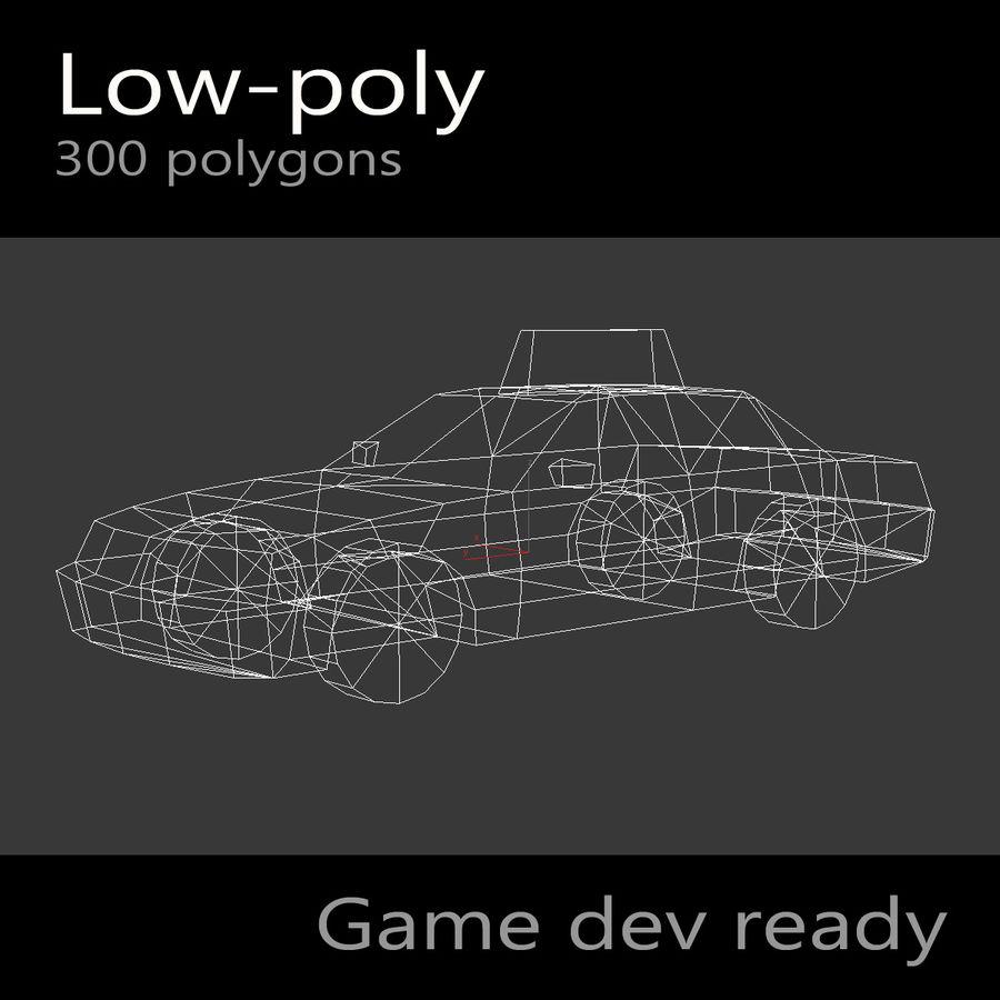 汽车出租车 royalty-free 3d model - Preview no. 3