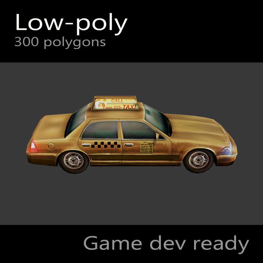 車のタクシー royalty-free 3d model - Preview no. 5