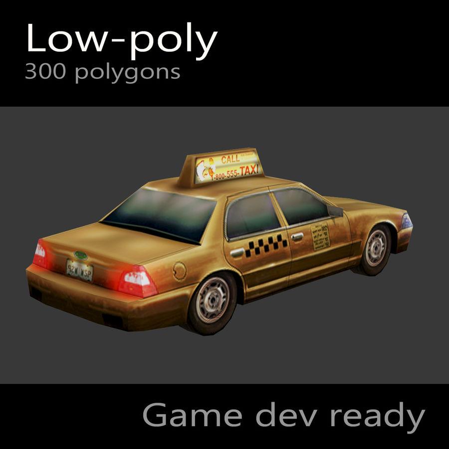車のタクシー royalty-free 3d model - Preview no. 4