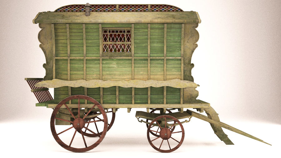 wagon royalty-free 3d model - Preview no. 1
