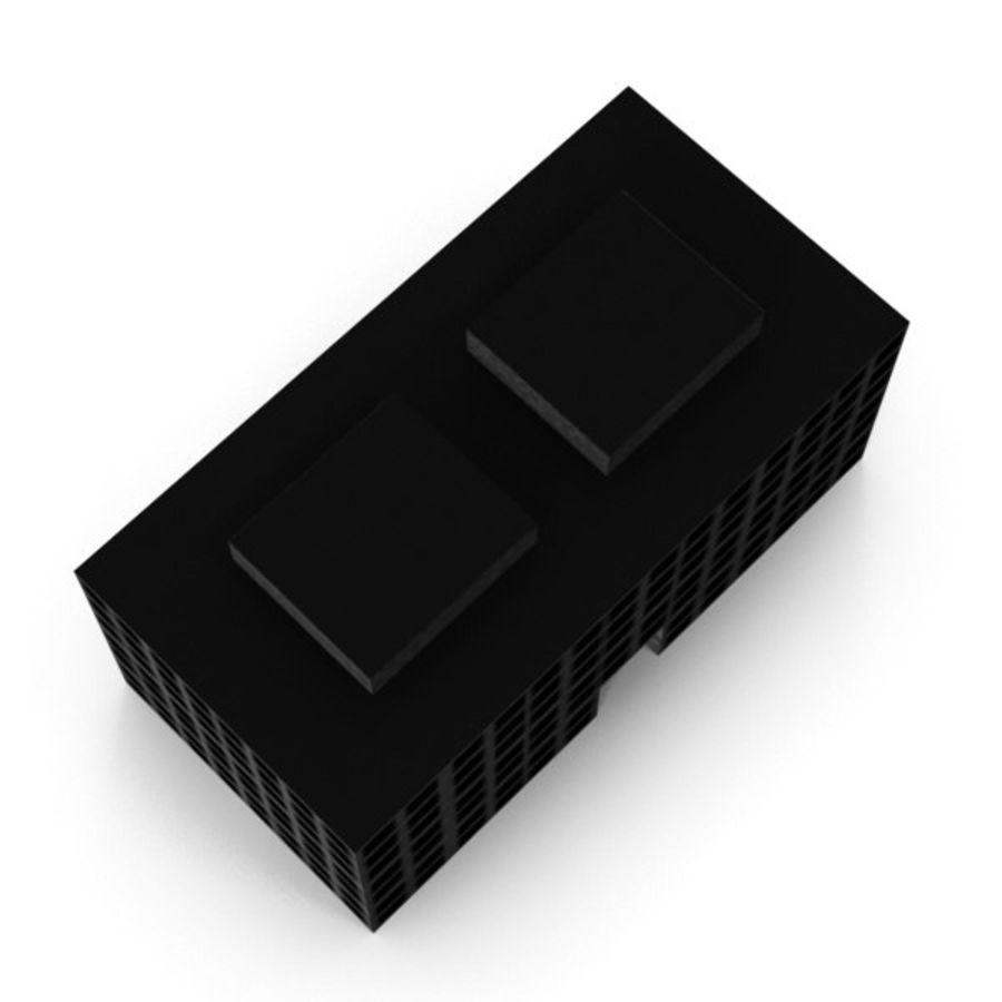 Grundläggande kontorsbyggnad royalty-free 3d model - Preview no. 6