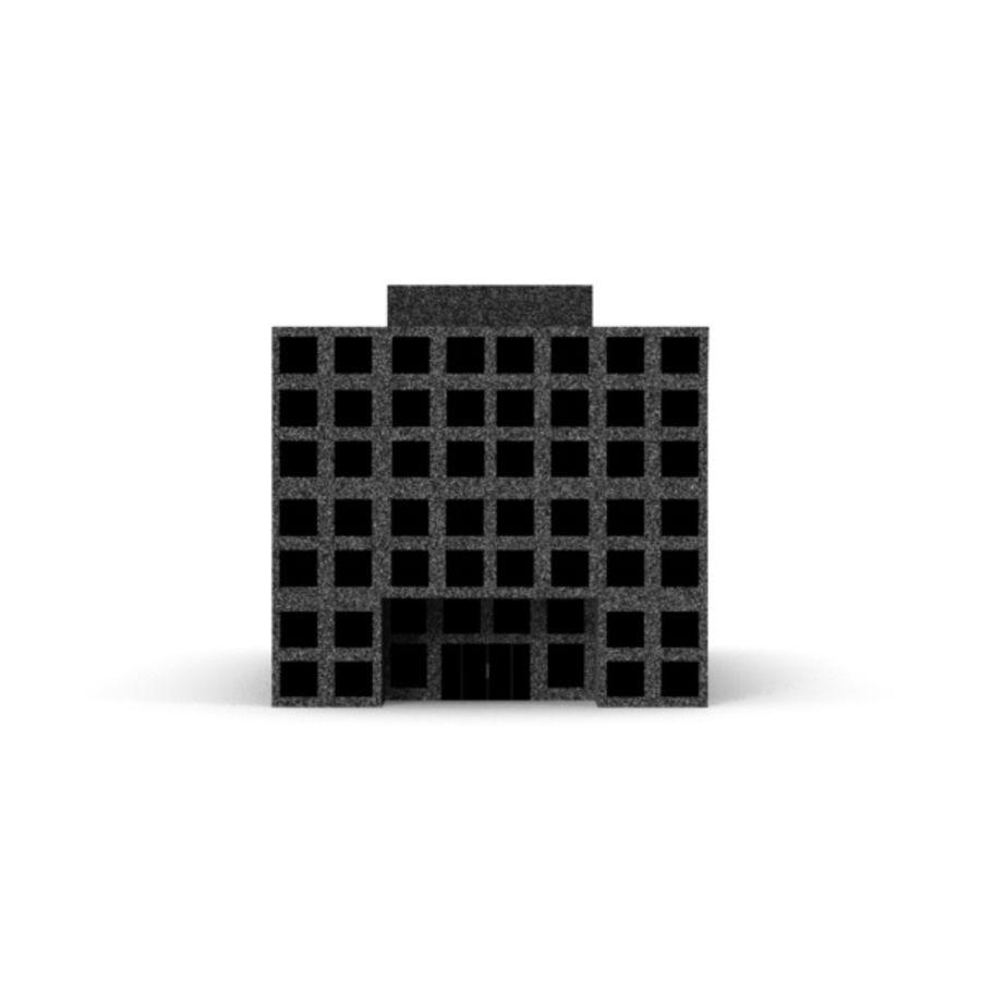 Grundläggande kontorsbyggnad royalty-free 3d model - Preview no. 5