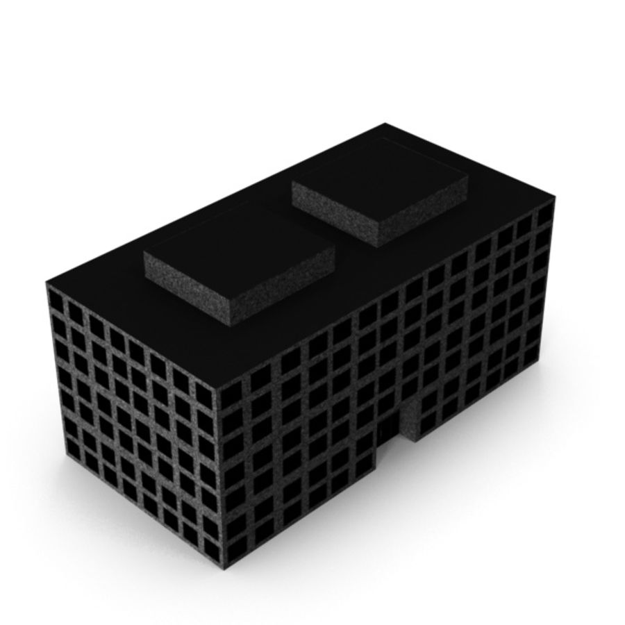 Grundläggande kontorsbyggnad royalty-free 3d model - Preview no. 4