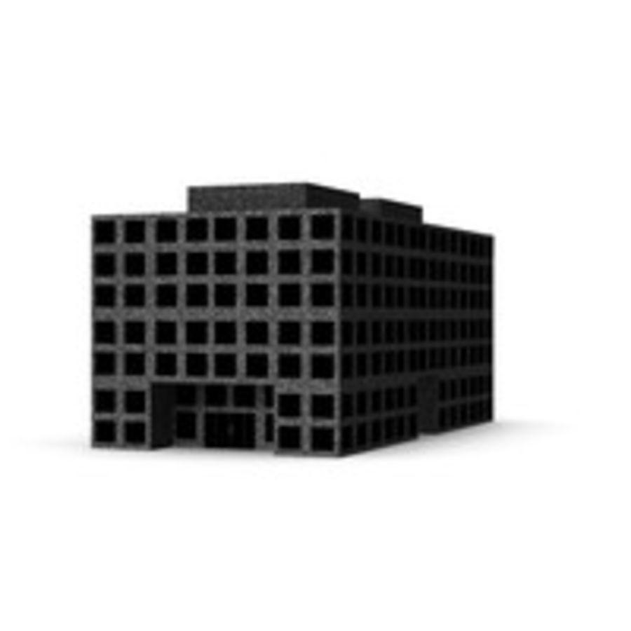 Grundläggande kontorsbyggnad royalty-free 3d model - Preview no. 2