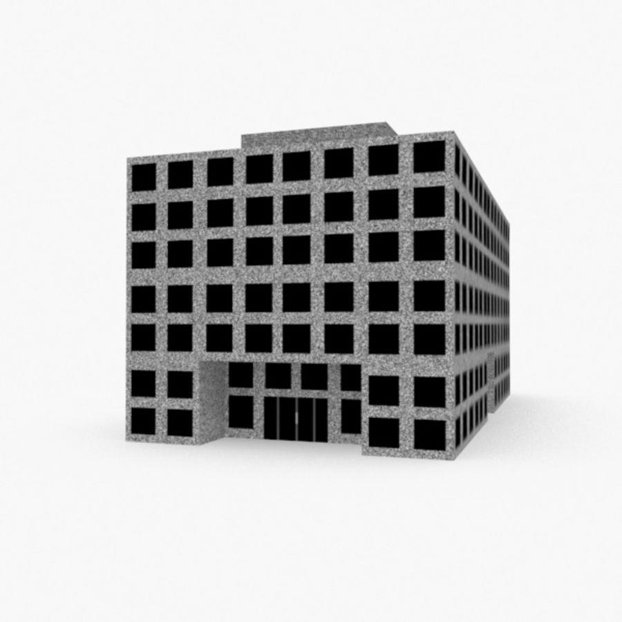 Grundläggande kontorsbyggnad royalty-free 3d model - Preview no. 1