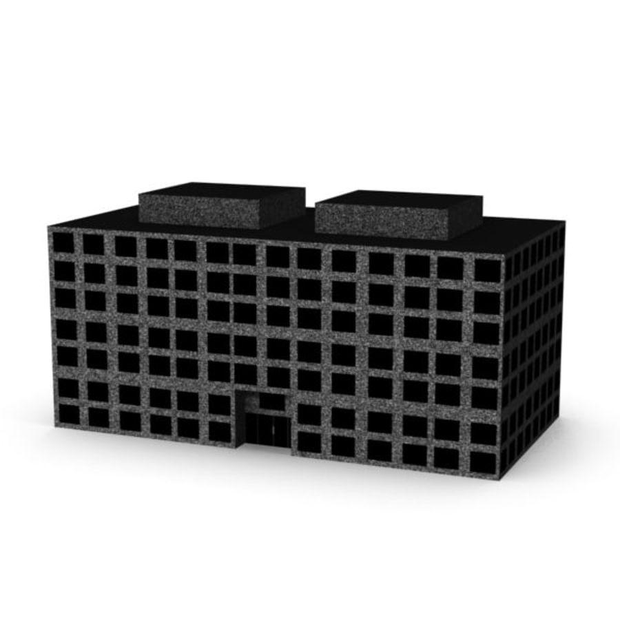 Grundläggande kontorsbyggnad royalty-free 3d model - Preview no. 3