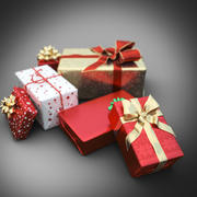Christmas gift set 3d model