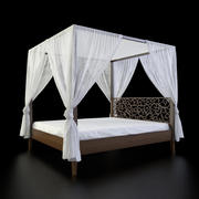 Perugia King knot canopy bed 3d model