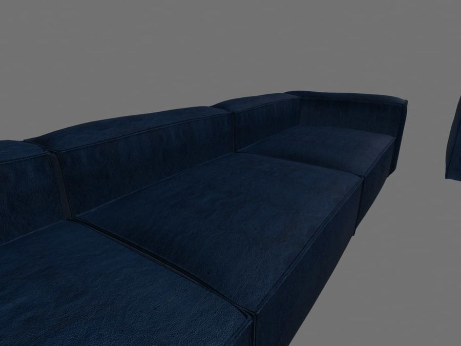 Dark Blue Furniture Sets royalty-free 3d model - Preview no. 3