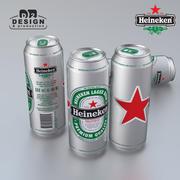 Beer can Heineken 500ml 3d model