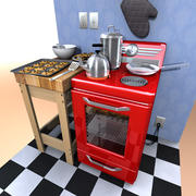Cartoon Oven 3d model
