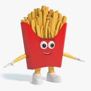 Carattere di patatine fritte 3d model