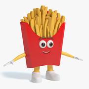 Pommes frites karaktär 3d model