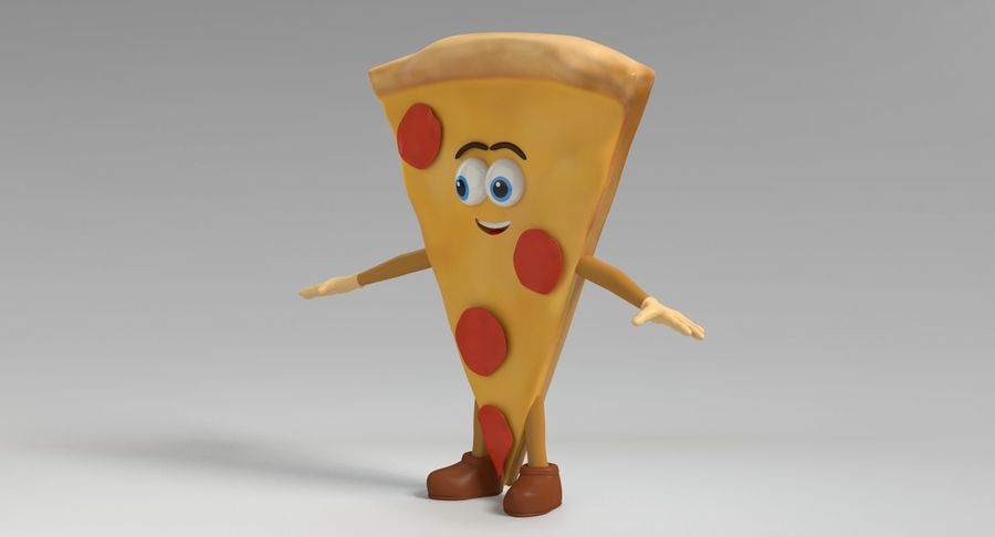 Pizza Character royalty-free 3d model - Preview no. 8