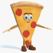 Carácter de pizza modelo 3d