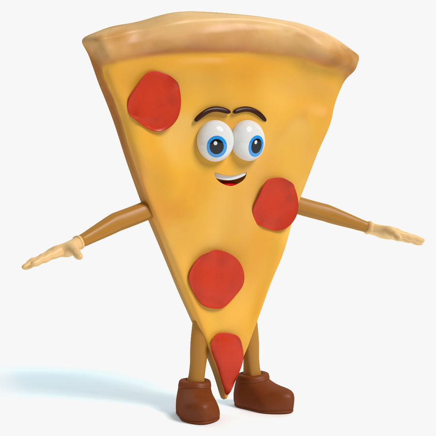 Pizza Character royalty-free 3d model - Preview no. 1