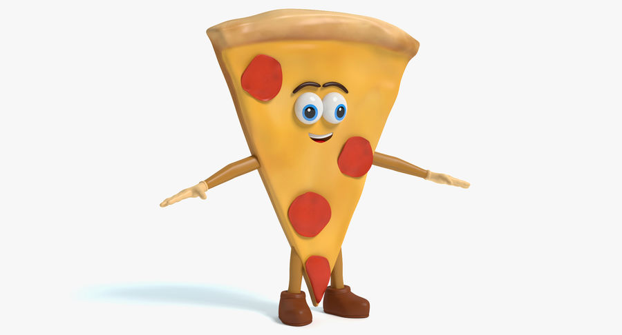 Pizza Character royalty-free 3d model - Preview no. 2