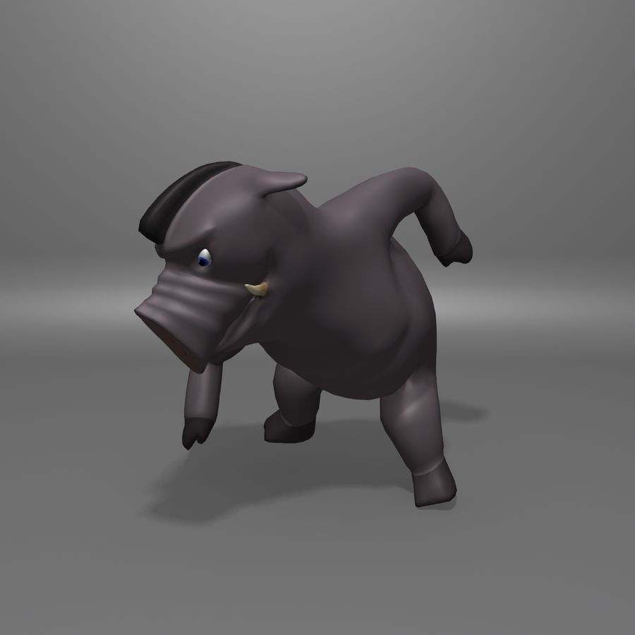 Cinghiale royalty-free 3d model - Preview no. 9