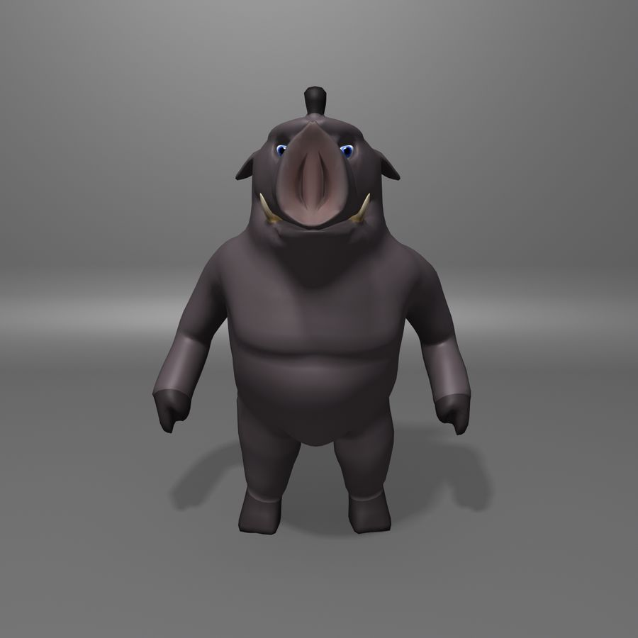 Cinghiale royalty-free 3d model - Preview no. 5